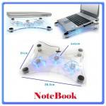 Supporto per Notebook 3 Ventole Led blu