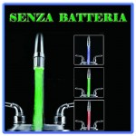 rubinetto 3 colori led