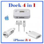 KIT DOCK iPHON APPLE 4in1