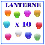 LANTERNE CINESI X 10