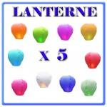LANTERNE CINESI X 5