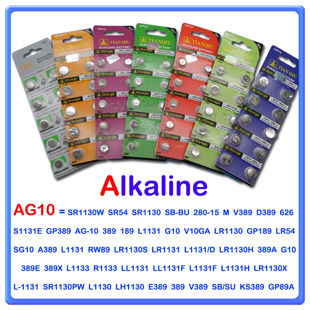 10 batterie pile ag10 a bottone alkaline 1 5v lr1130 lr54. Black Bedroom Furniture Sets. Home Design Ideas