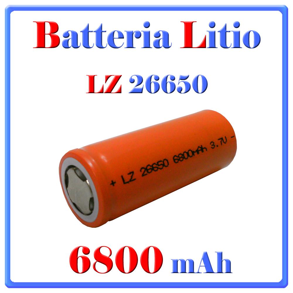 BATTERIA LITIO 26650  6800mAh