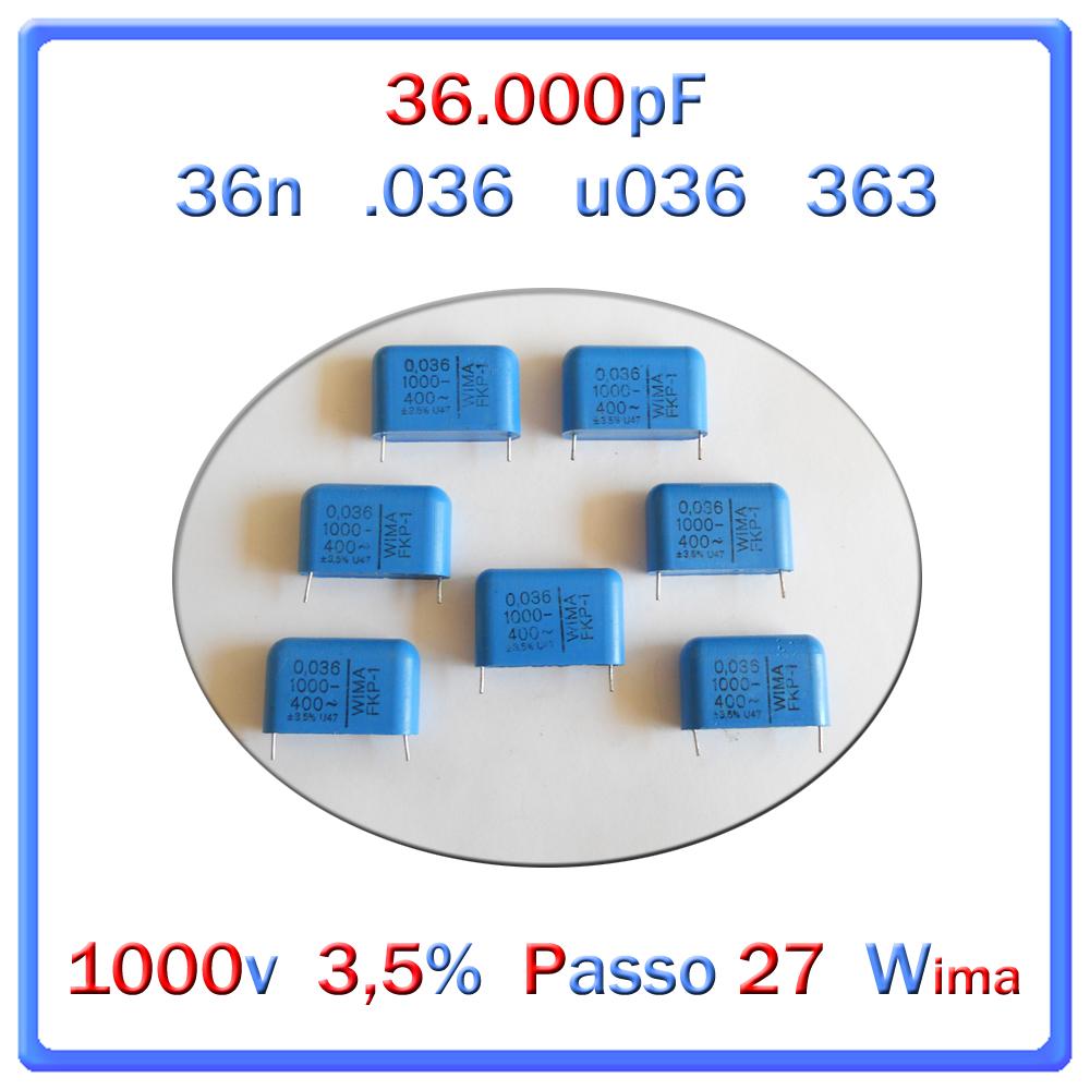 C  36nf 1000v 3,5% p.27 wima