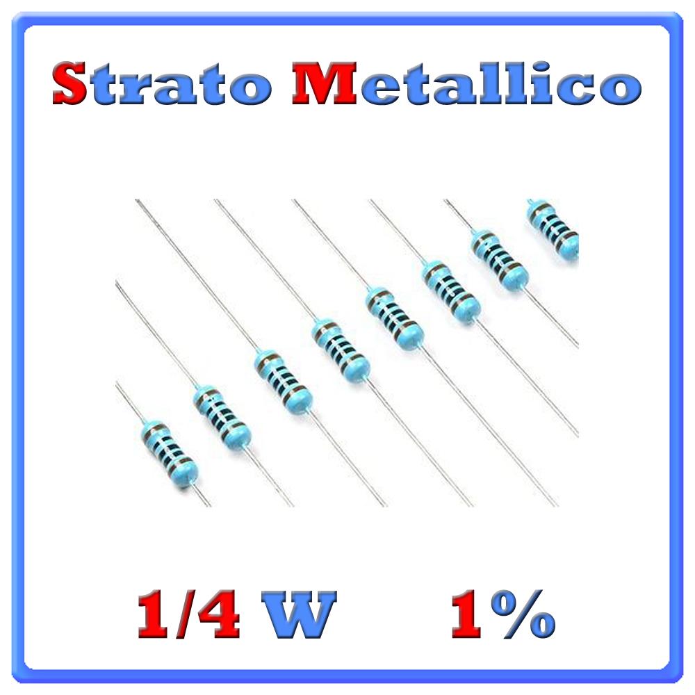 RESISTENZE 1-4w 1% Metallico
